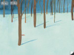 il movimento del braccio nascosto dietro l'albero invita al touch