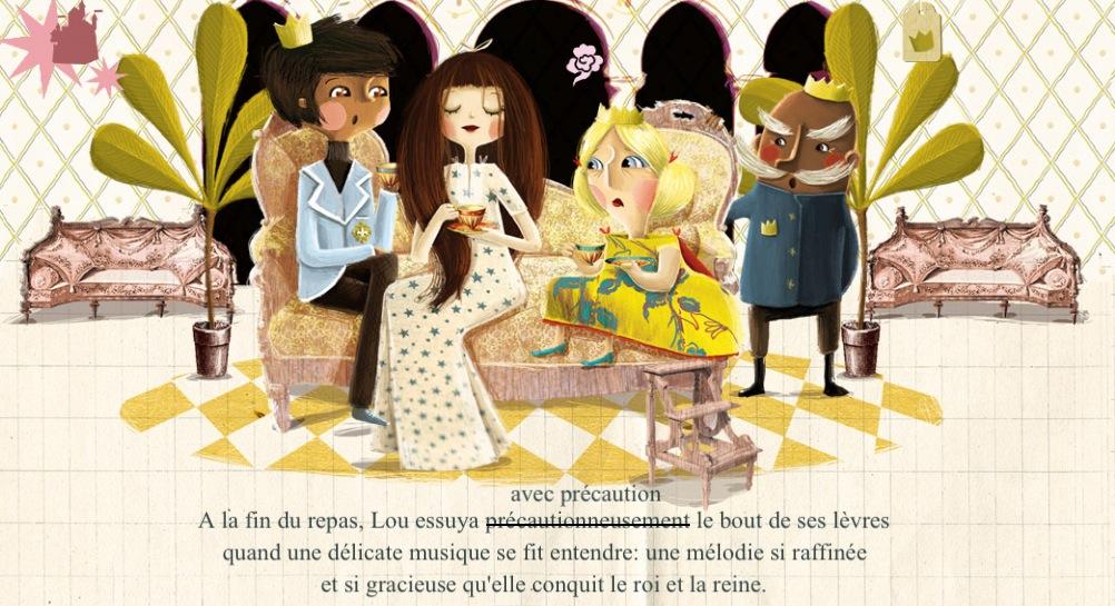storia illustrata d'amore, non la solita principessa