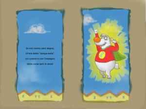 cane eroe, costume da carnevale da cane, libro interattivo con lettura