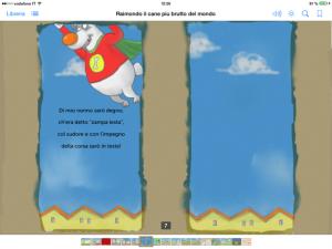 cane vola, storia interattiva per bambini, travestimento da cane, leggere libri digitali