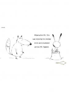 book app interattiva per bambini, in inglese