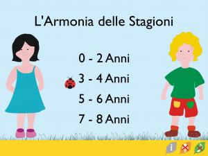le stagioni spiegate ai bambini, book app interattiva