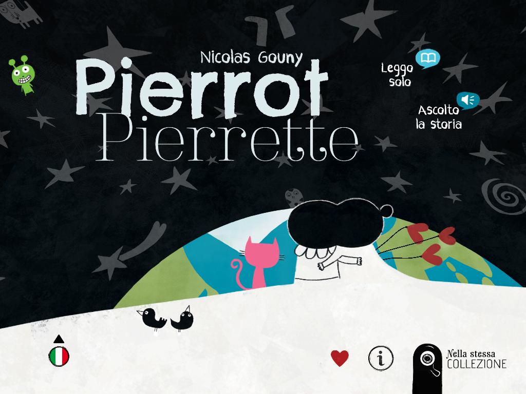 pierrette triste, pierrot va sulla luna, libro interattivo pierrot, ebook sulla tristezza