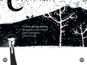 nevicata nicolas gouny illustratore, davide cali intervista, app interattiva per bambini