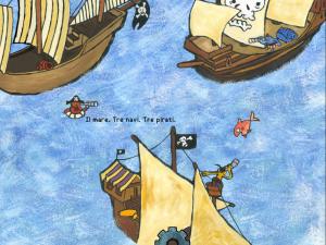i 3 pirati app interattiva illustrata