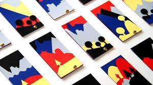i ritagli che compongono le cartoline