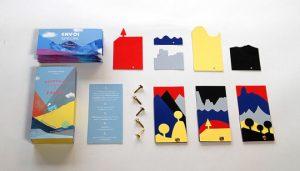 il kit per creare i paesaggi, tramite l'app si animano sullo schermo