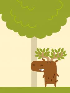 ultima app interattiva di Minibombo per giocare gli animali cervo
