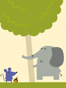 elefante e topolino Dalla chioma app
